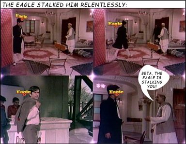 The Eagle stalks Shashi Kapoor...