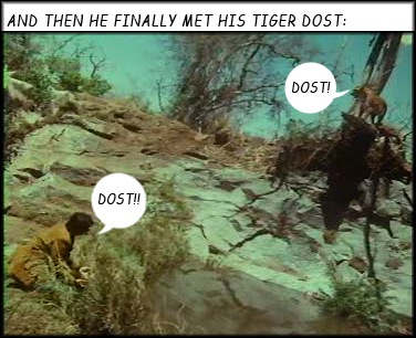 Shashi Kapoor and the tiger