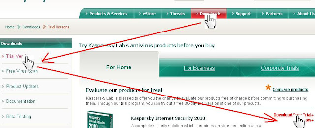 Cara Download Kaspersky