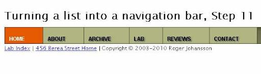 CSS Menu Navigation