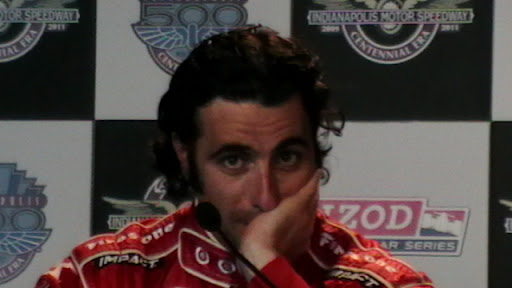 Dario Franchitti at the press conference after the 2010 Indianapolis 500