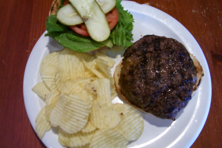 Hamburger from The Pub in Evansville, Indiana