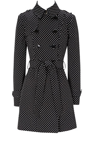 Polka Dots Print Mac Coat by Oasis