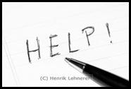 HELP written on paper
