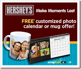 Hersheys Free Photo Calendar or Photo Mug