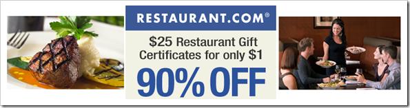 Restaurant dot com Logo Ninety Percent Off