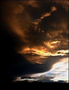 Sunset over ridge by Betsy Markman