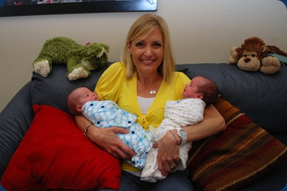 Aunt Romy holding the boys