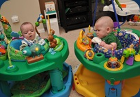 The competing exersaucer
