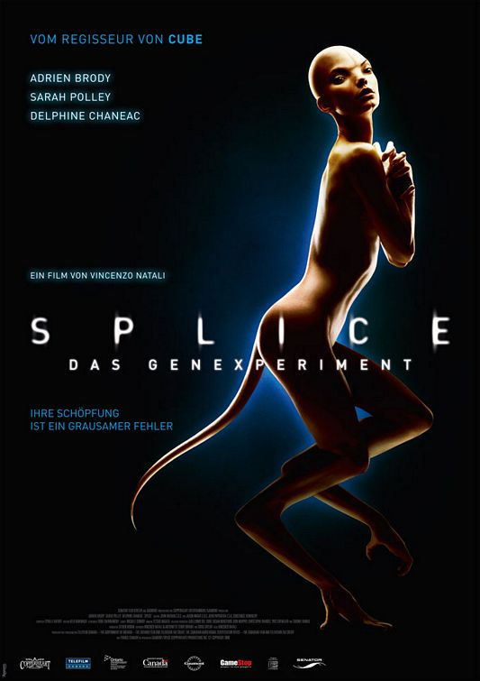 Splice, new, poster, German