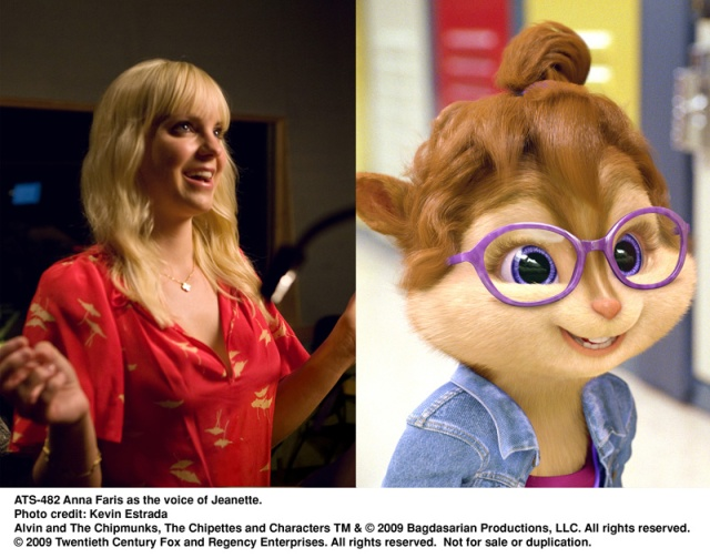anna faris, jeanette, alvin, chipmunks, The Squeakuel