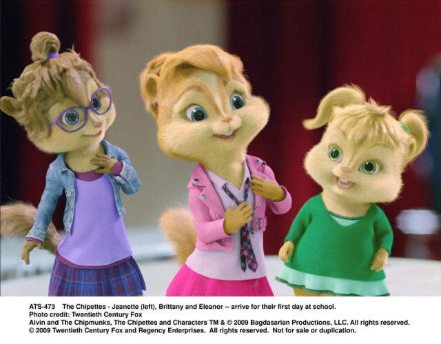 Chipettes, alvin, chipmunks, The Squeakuel