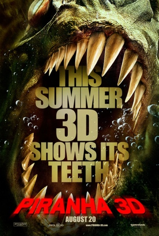Piranha 3D, movie, poster