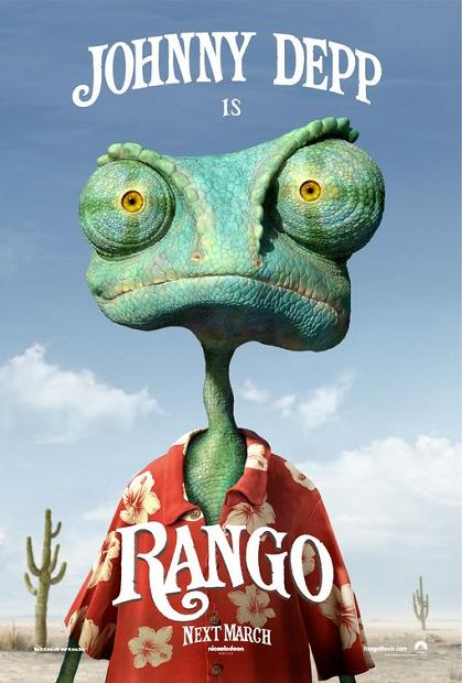 Rango, movie, poster, Johnny Depp