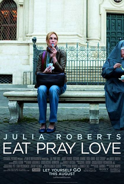 Julia Roberts, movie, poster, Eat Pray Love