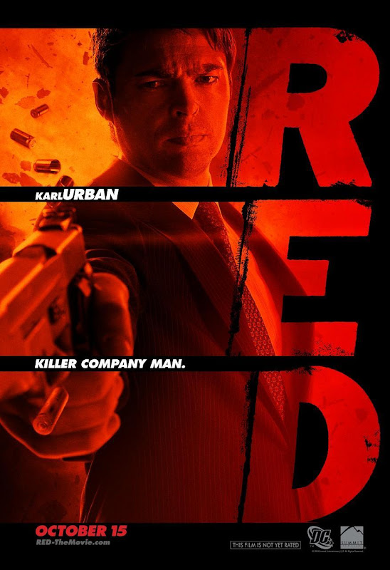 Karl Urban, red, movie, poster