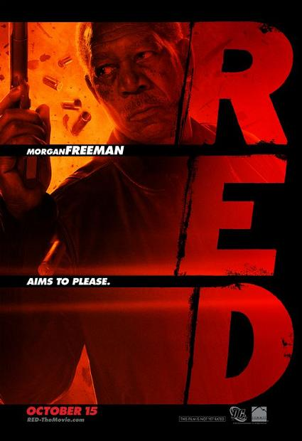 Morgan freeman, red, movie, poster