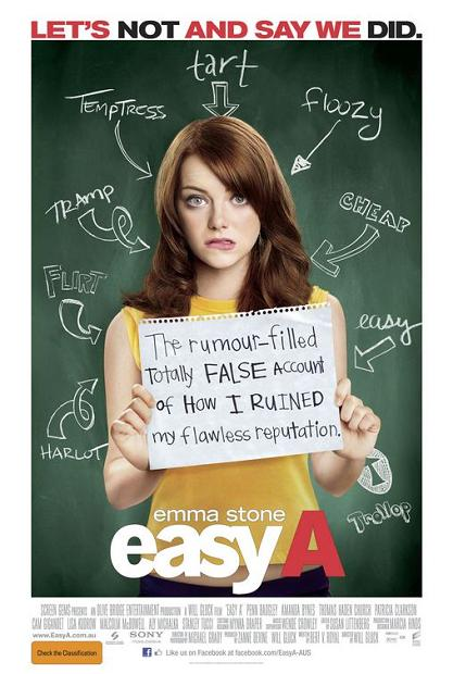 Easy A, movie, poster