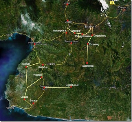 Peta-pelabuhan ratu
