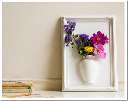virág a falon