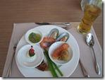 Bangkok: Course 3 - Shrimp, Oyster, Crab salat, liver pate