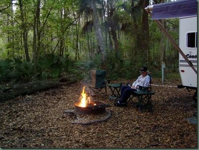 camping at Hillsborough River SP