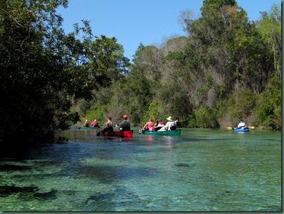 canoes on the  Weeki Wachee River