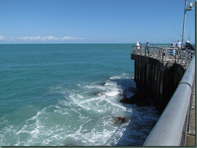 view from pier of Sebastian inlet