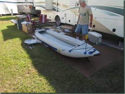 fully inflated kayak with inflated floor