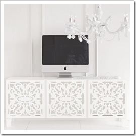 Lace Cut Media Storage Unit - Brocade Home