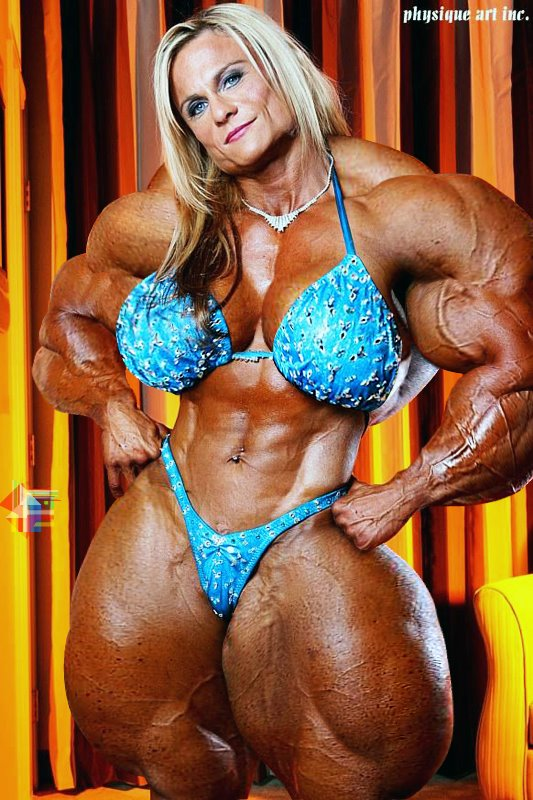 huge female muscle morph
