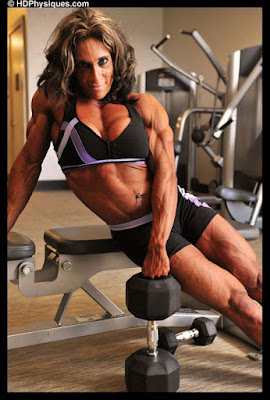 Female Bodybuilder Gail Auerbach