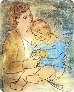 Pablo_Picasso_Mother_And_Child