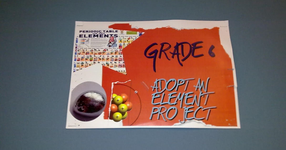 Learning journey adopt an element for Adopt an element project ideas