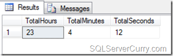 Hours, minutes, seconds in T-SQL