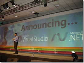 Somasegar announcing release of VS 2010