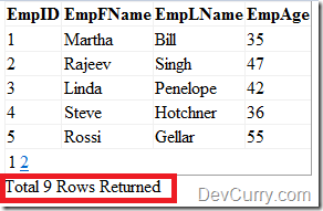 ObjectDataSource Row Count