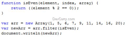 javascript filter array