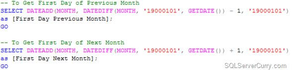 first day SQL Server