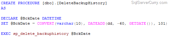 automate sp_delete_backuphistory
