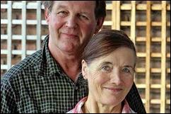 Met zijn vrouw Clare