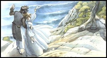 """Illustratie uit het boek """"De graaf van Monte Christo"""""""