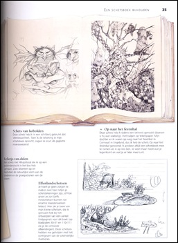 tekening uit boek