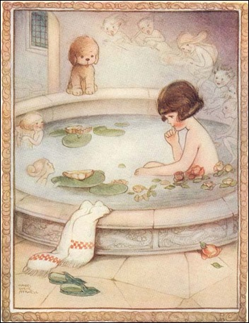 I do not think that any of you would have hurried if your bath water had begun singing sweet songs to you
