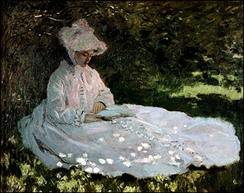 Monet_A_Woman_Reading_1872