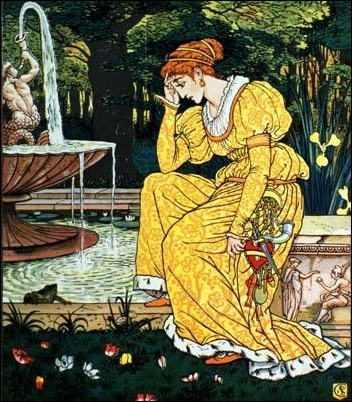 frog prince by Walter Crane