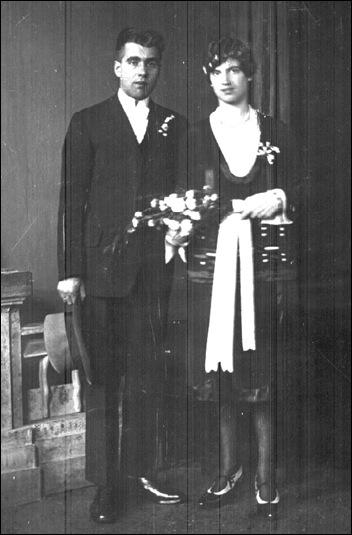 Trouwfoto van mijn grootouders