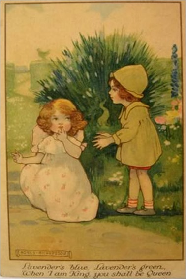 Agnes Richardson Postcard  Children in Garden