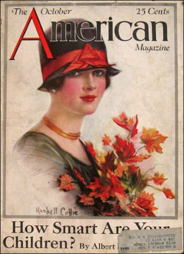 1926 American Magazine Cover  Haskell Coffin