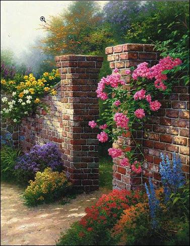 rose by Thomas Kinkade